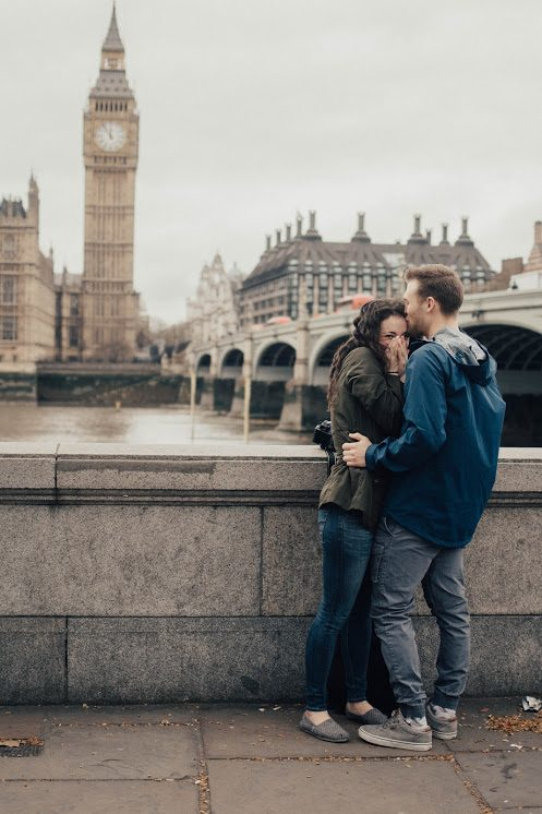 Olivia and Brandon's Engagement in London, England