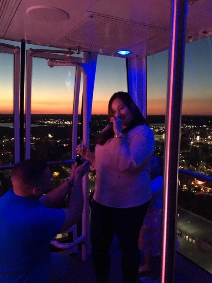 Karra's Proposal in On the Orlando Eye