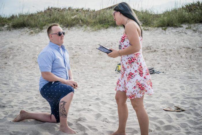 Jennifer's Proposal in Florida, Cocoa Beach