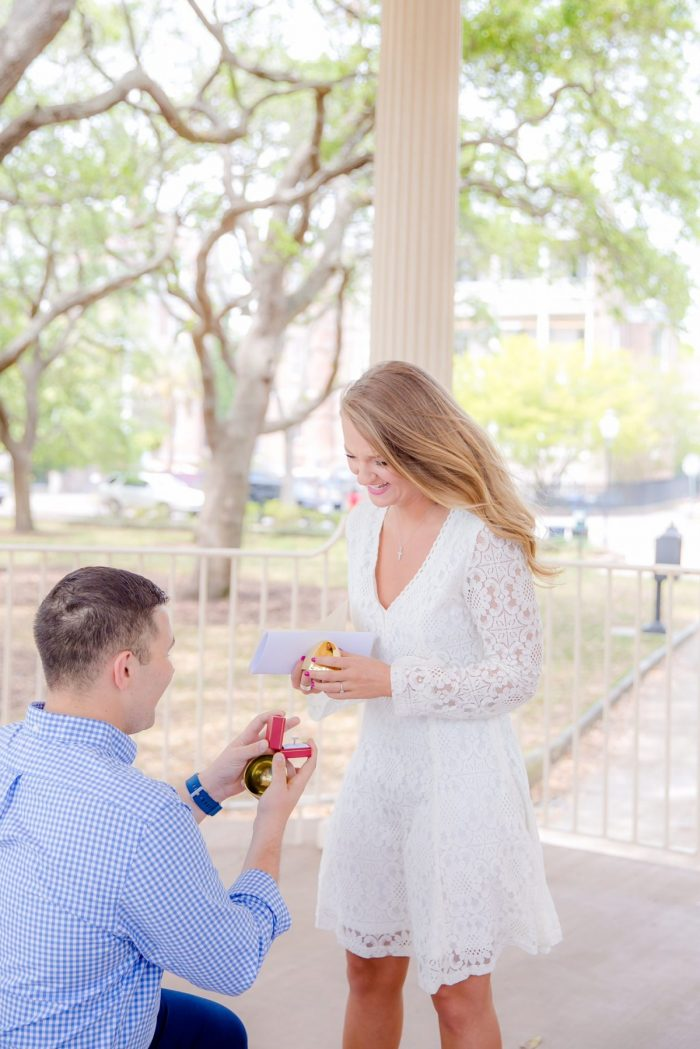 Wedding Proposal Ideas in The Historical Battery Park in Charleston SC