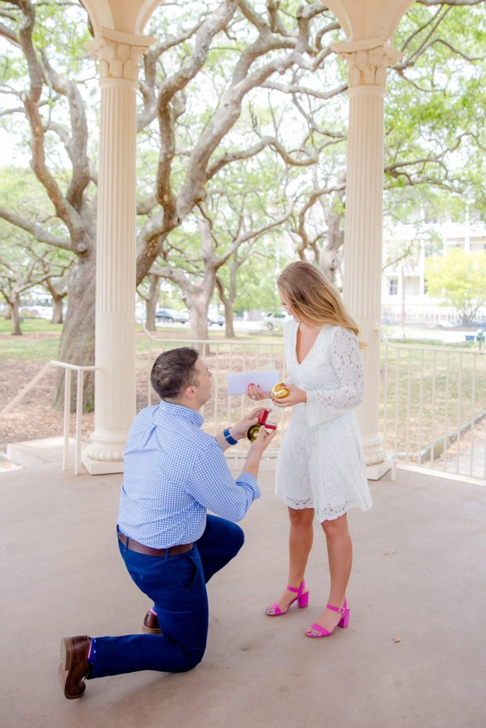 Where to Propose in The Historical Battery Park in Charleston SC