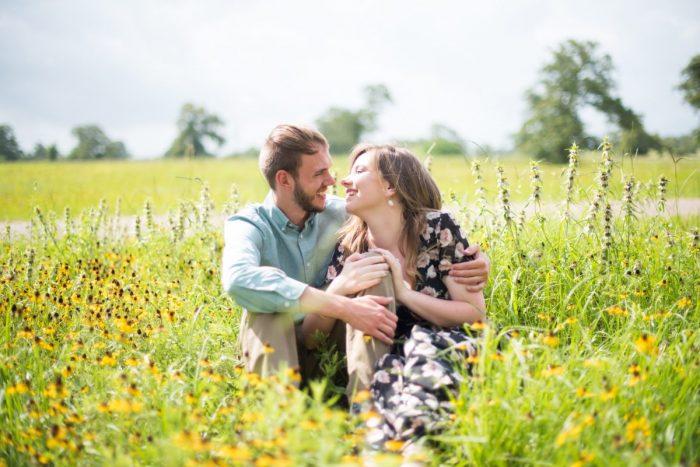 Emily and Jeff's Engagement in University of Alabama Arboretum