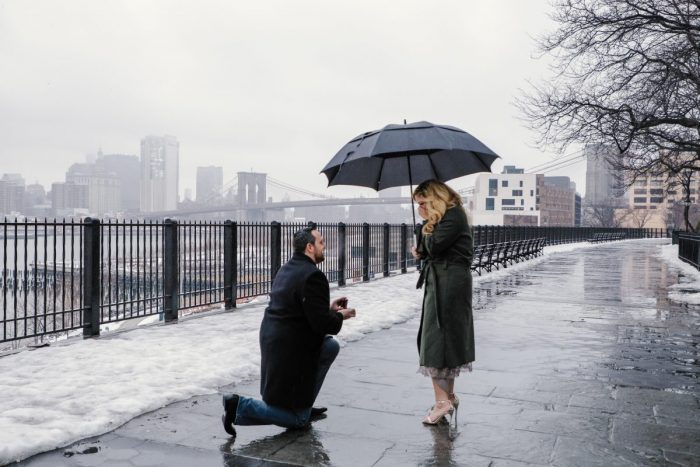 Michelle and Gregory's Engagement in Brooklyn Heights Promenade