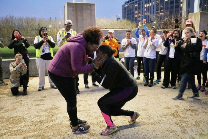 Where to Propose in NYRR Open Run at Brooklyn Bridge Park