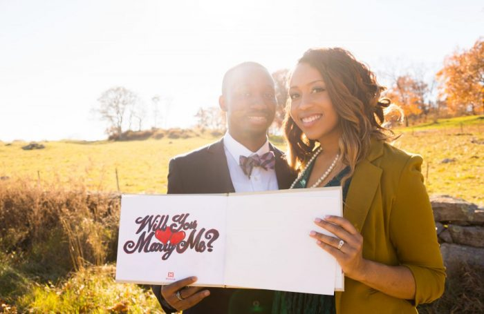 LENIA J's Proposal in blue hill stone barn