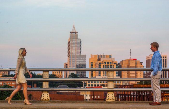 Proposal Ideas A bridge overlooking the Raleigh skyline