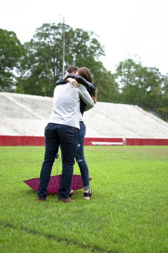 Wedding Proposal Ideas in Sirrine Stadium
