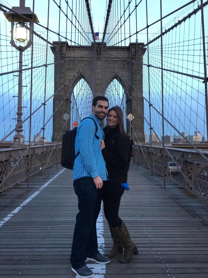 Ashley and Michael's Engagement in Brooklyn Bridge