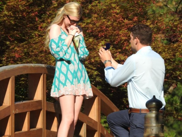 Danielle's Proposal in Missouri Botanical Gardens