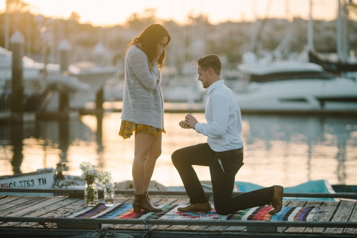 Dottie and Jesse's Engagement in Shelter Island, San Diego Harbor