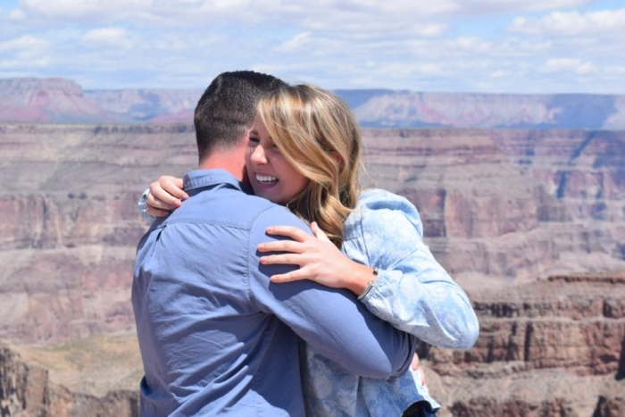 Marriage Proposal Ideas in Grand Canyon - West Rim