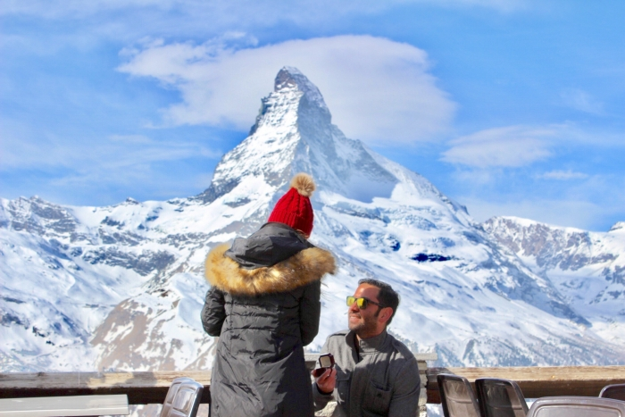 Melinda's Proposal in The Matterhorn in Zermatt, Switzerland