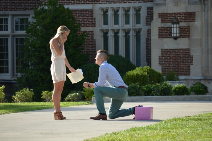 Wedding Proposal Ideas in Ayres Hall at The University of Tennessee