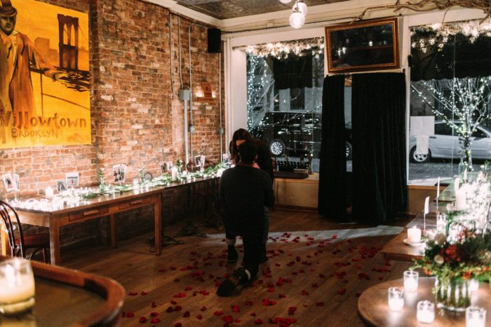 Engagement Proposal Ideas in Iris Cafe