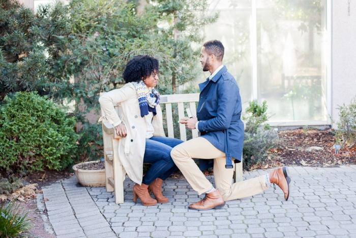 Sophia and Alphonso's Engagement in Atlanta Botanical Gardens