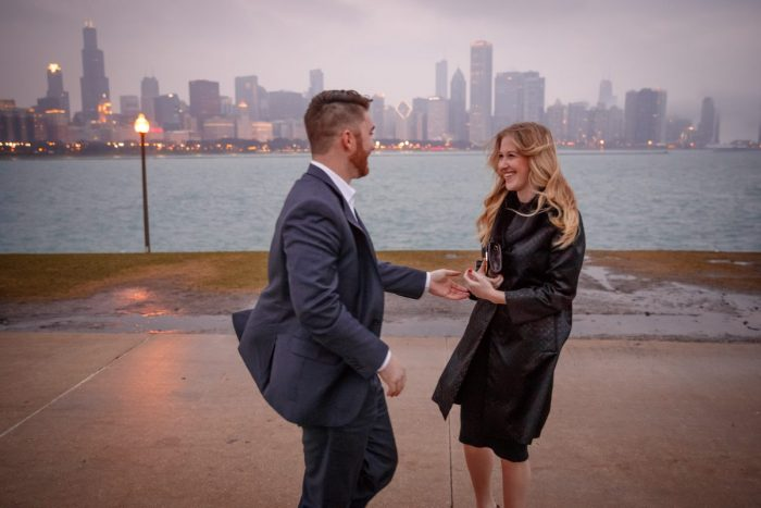 Caitlin and Kyle's Engagement in Chicago, IL
