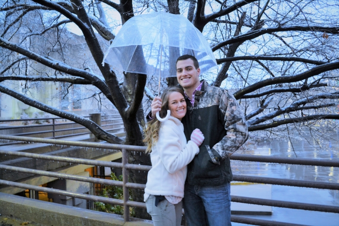 Grace and Tanner's Engagement in Guthrie Green, Tulsa