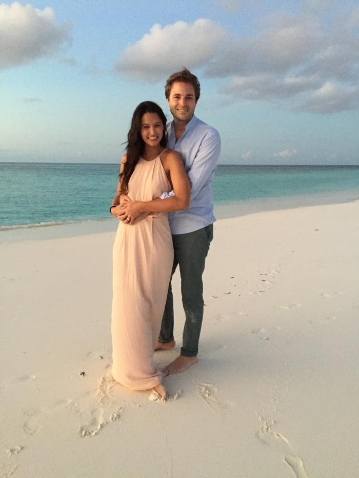 Wedding Proposal Ideas in On a sandbank of the Six Senses Laamu Resort in the Maldvies