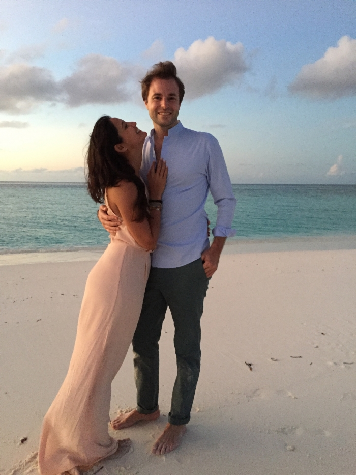 Marriage Proposal Ideas in On a sandbank of the Six Senses Laamu Resort in the Maldvies