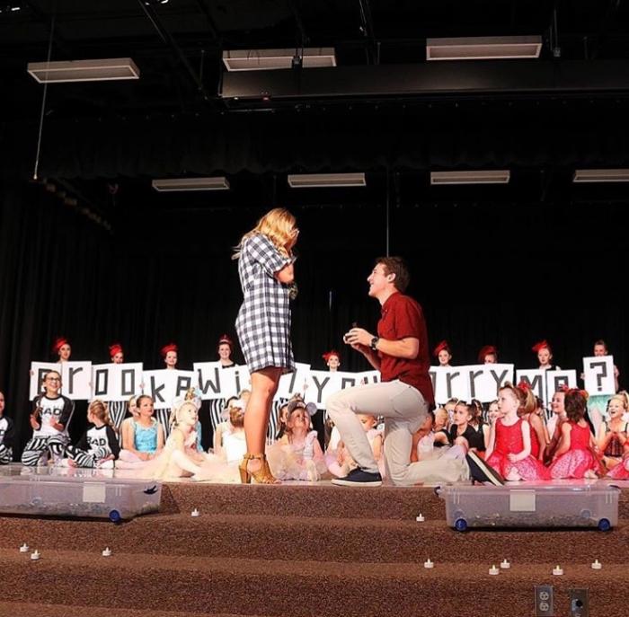 Marriage Proposal Ideas in Dance Studio Year End Show (Where I teach)
