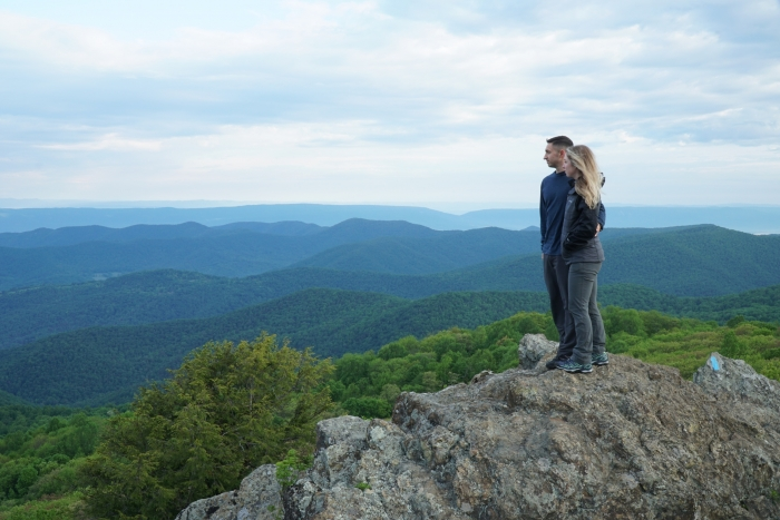 Amanda and Mason's Engagement in Shenandoah National Park
