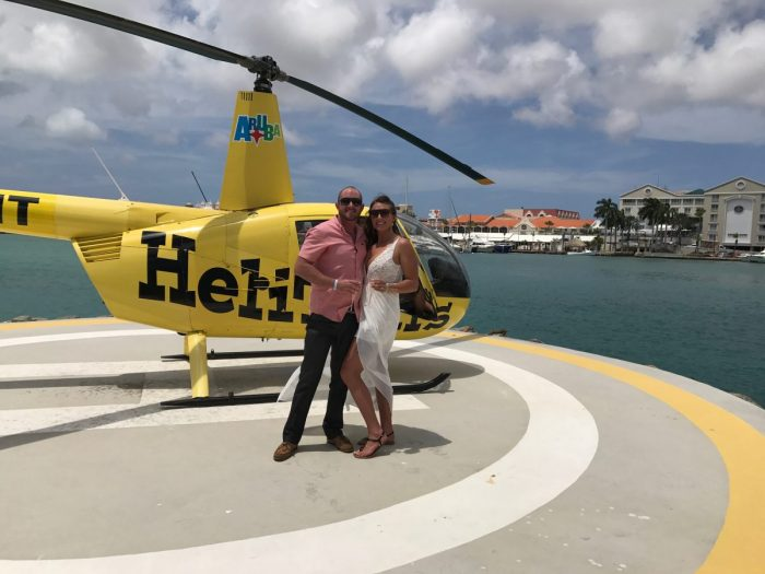 Engagement Proposal Ideas in On a helicopter tour of Aruba