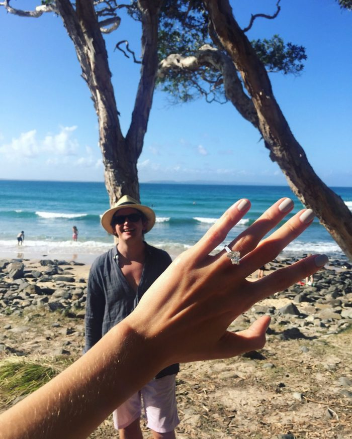 Laura and Tom's Engagement in Tee Tree Bay, Noosa, Australia