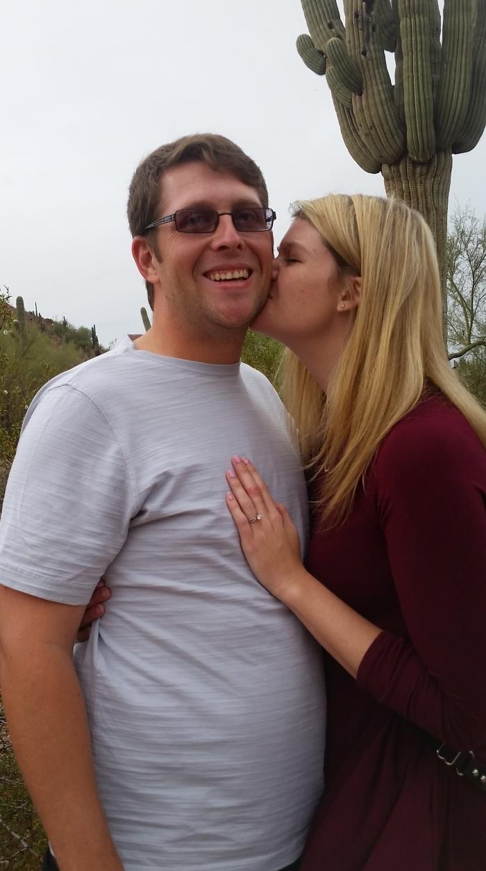 Caity and JT's Engagement in Desert Botanical Gardens in Phoenix, AZ
