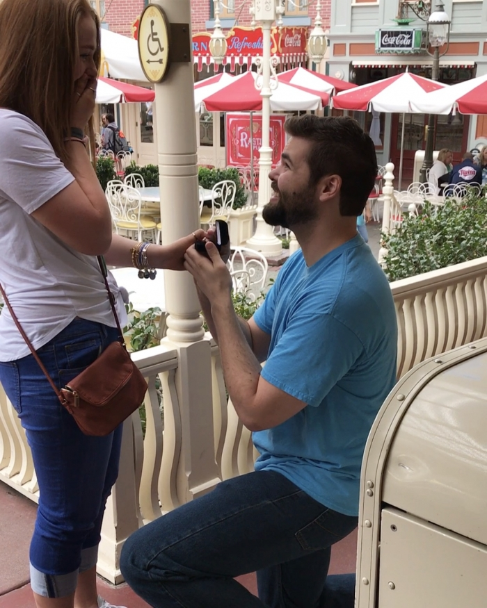 Engagement Proposal Ideas in The Jolley Holliday Cafe and Bakery, Disneyland