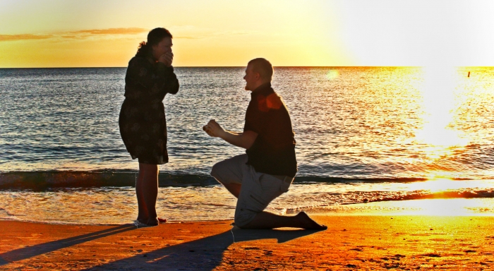 Kayla and Cody's Engagement in Anna Maria Island, Florida on Holmes Beach