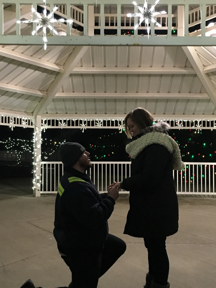 Alysia's Proposal in Park near our hometown
