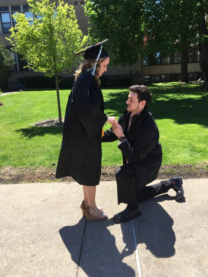 Theresa's Proposal in Concordia University Chicago