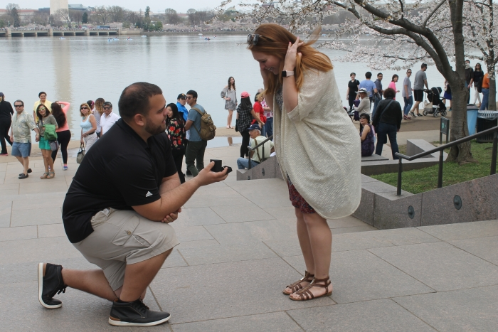 Engagement Proposal Ideas in Cherry Blossom Festival in Washington D.C.