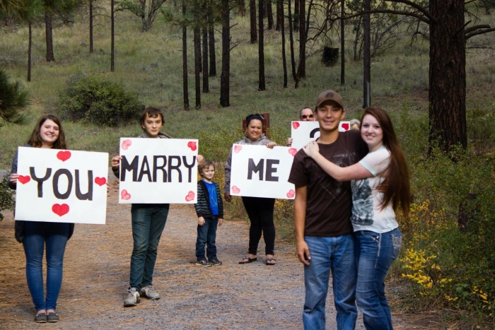 Marriage Proposal Ideas in A meaningful place in the forest
