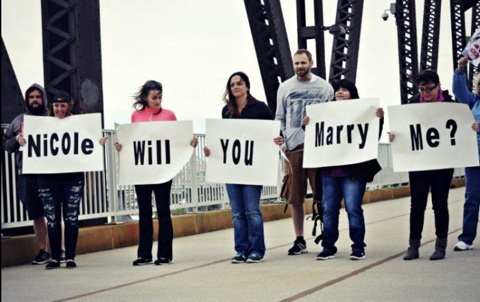 Where to Propose in Big four (Walking bridge) Louisville Kentucky