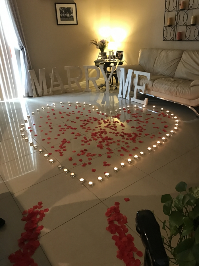 Wedding Proposal Ideas in My parents house