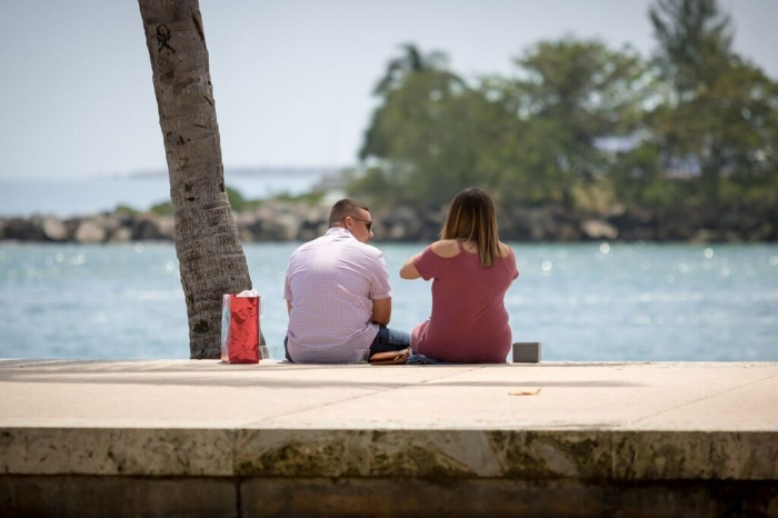 Wedding Proposal Ideas in South Pointe Park, Miami Beach FL