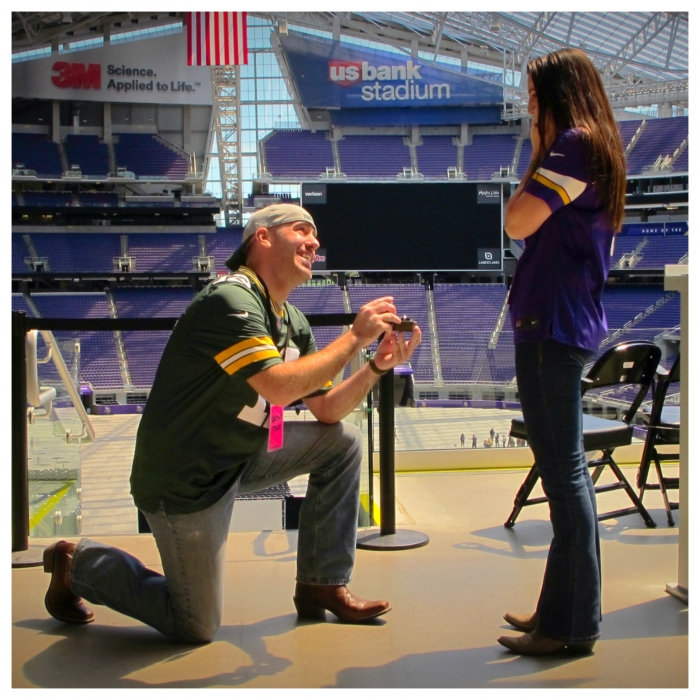Engagement Proposal Ideas in US Bank Stadium, Minneapolis MN