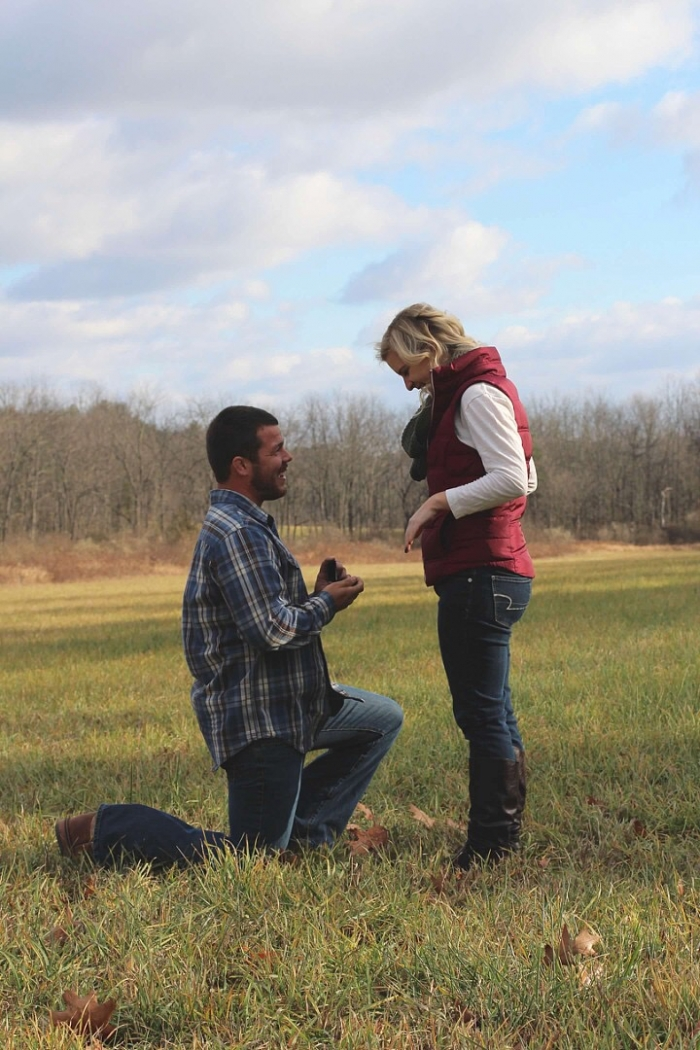 Wedding Proposal Ideas in His family's cabin