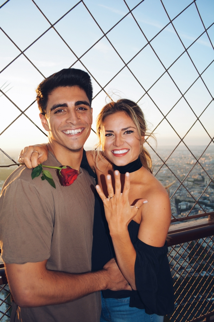Where to Propose in Top of the Eiffel Tower in Paris, France