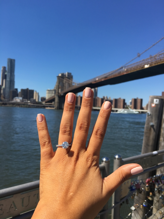Wedding Proposal Ideas in NYC- Brooklyn bridge pier