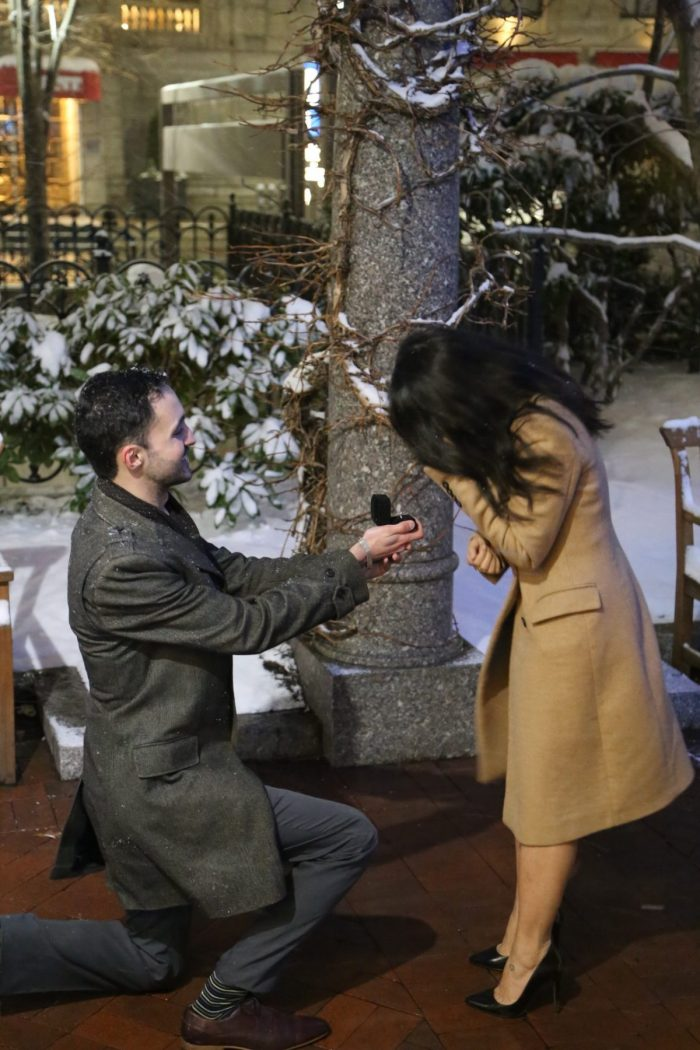 Wedding Proposal Ideas in Post Office Square, Boston, MA
