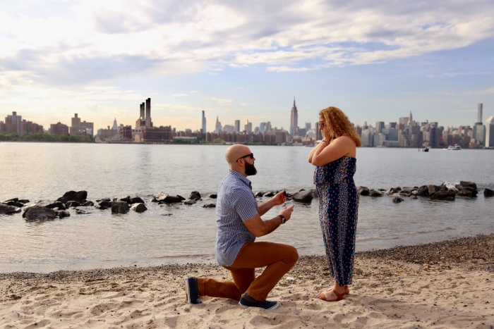 Carla's Proposal in Smorgasburg in Williamsburg, Brooklyn, New York