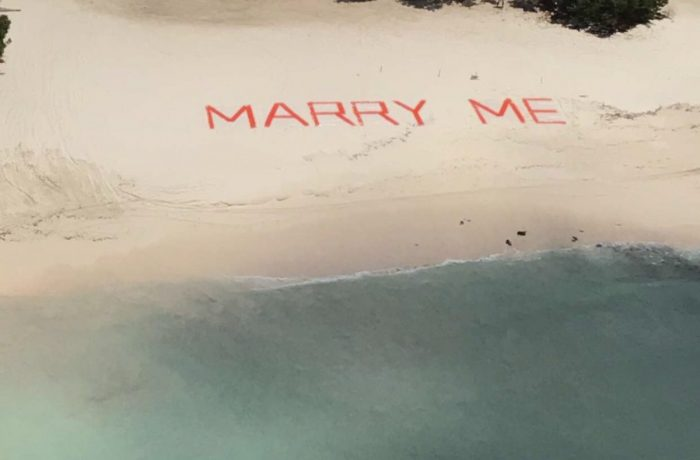 Marriage Proposal Ideas in On a helicopter tour of Aruba
