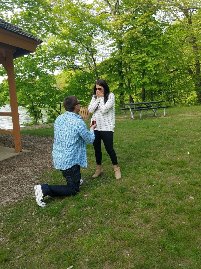 Kayla and Tyler's Engagement in Park
