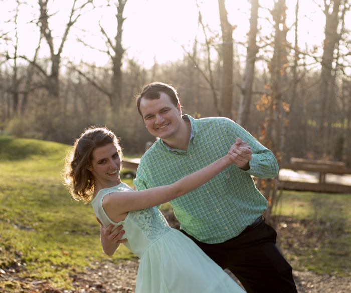 Hannah and Caleb's Engagement in Lake Mississinewa in rural Indiana