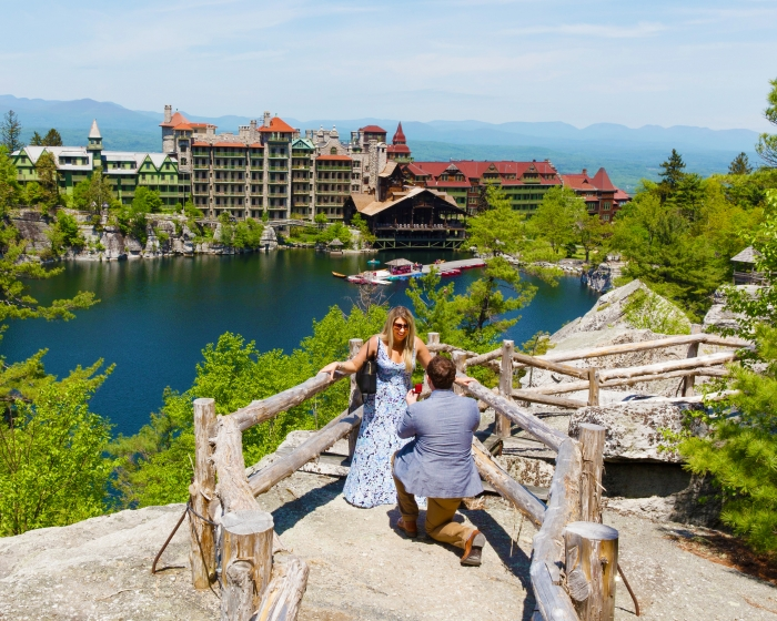 Engagement Proposal Ideas in On a cliff overlooking Mohonk Mountain House