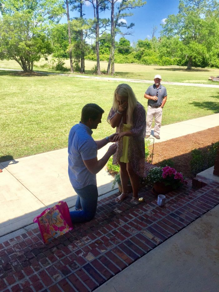 Wedding Proposal Ideas in Amy's parents home