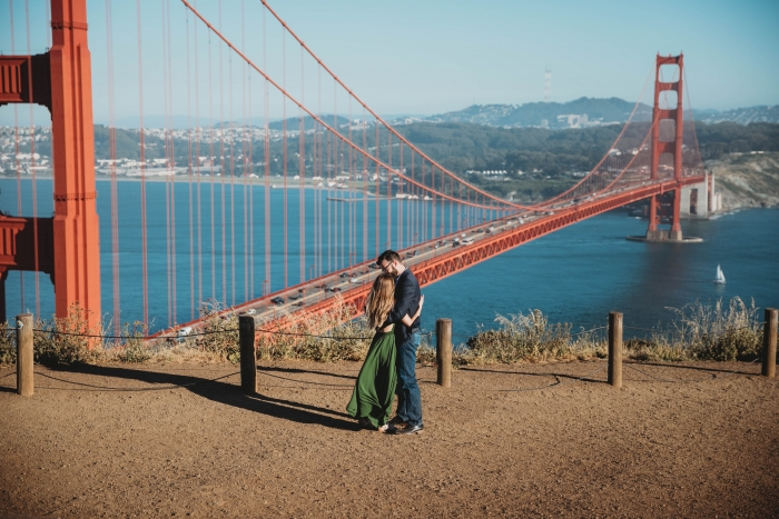 Marriage Proposal Ideas in Golden Gate Bridge, San Francisco