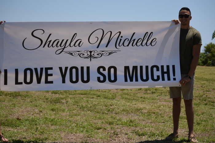 Shayla's Proposal in Old City Helicopters @ Peter O. Knight Airport